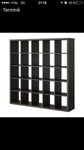 Expedit noir 25 cases ikea