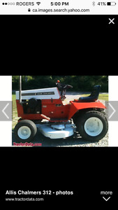 Wanted : Vintage Allis Chalmers riding lawn mower