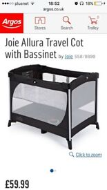 New travel cot