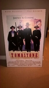 Tombstone Movie Poster - Matted and Hard Laminated Kitchener / Waterloo Kitchener Area image 1