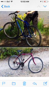 2 Mountain Bikes for sale. Just $50.00each good condition