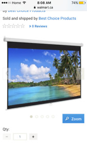 65 inch projection screen