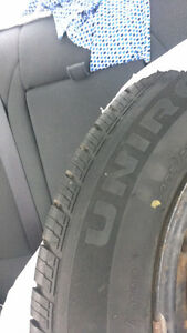 205/65R16 Uniroyal tires with steel rims Cambridge Kitchener Area image 2