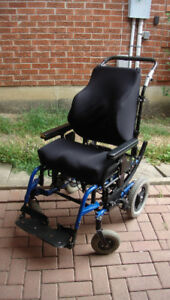 wheelchair  tilting  ( Backrest and seat are cushion )