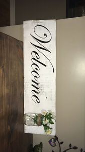 Hand made vintage signs and decor