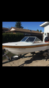 14' CanaVenture with 60HP Mercury Motor less than 200 hrs $2800