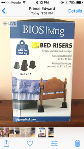 Bed Risers - Used for only 2 weeks