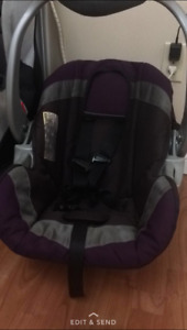 Purple infant car seat