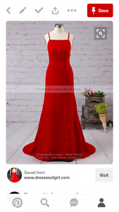 Spaghetti Prom Dress /Backless Prom Dress