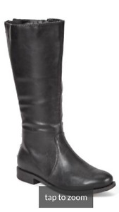 Black Wide Width Tall Riding Boots