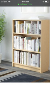 "Birch Bookcase. IKEA ""Billy"" series."