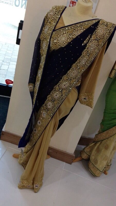 Blue and gold saree for salein Chadderton, ManchesterGumtree - Sarees for sale, got 3 of the same one, lovely sarees only worn once so if interested dont hesitate to ask