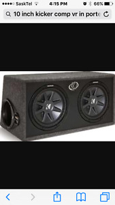 "2 10"" kicker comp vr in ported kicker box"
