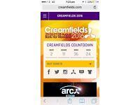 2 Saturday gold & 3 Sunday Gold Creamfields tickets