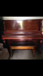 Wright Piano Co. Ltd. Antique Piano/Bench Full Of Sheet Music