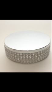 **DISPLAY CRYSTAL CAKE STANDS**FOR SALE $60**