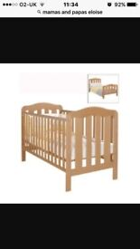 Mamas and papas Eloise cotbed with mattress