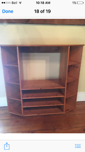 Solid wood tv stand/shelf unit