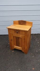 Antique Solid Wood Primitive Washstand Cabinet Cupboard n More