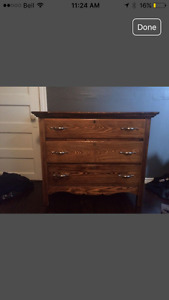 Antique bed & dresser set