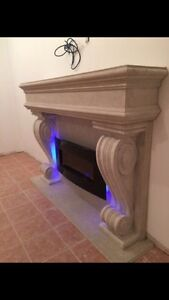 ➖ SALE ➖ GAS AND ELECTRIC FIREPLACE MANTELS STONE CAST