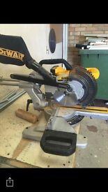 Cordless dewalt mitre saw