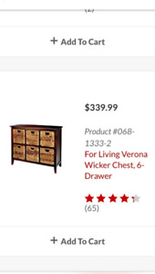 6 drawer chest/ table
