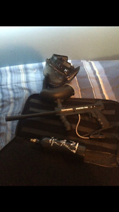 200$ entirer paintball gun kit only thing missing is the helmet