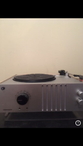 Record player w/ radio and aux plug