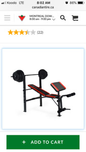 Weight bench and weight