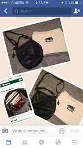 Roots leather bag