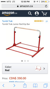 Junior kip bar and extensions (red)