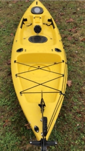 Fishing kayak with rudder system -Aqualung