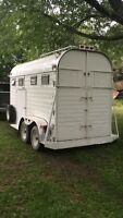 2 Horse Bumper Pull horse trailer with Tack Room