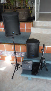 Yorkville M8 powered mixer with matched Yorkville speakers