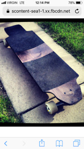 Longboard and wheels for sale.