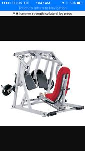 Selling hammer strength ISO leg press