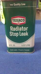 "1960-70's TEXACO ""Radiator Stop Leak"" 8 fluid oz. tin (FULL)"