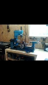 Clarke CLM metal lathe with mill drill