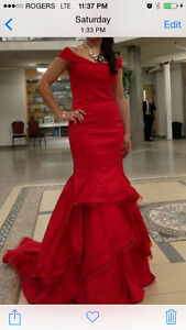 Red ballroom gown London Ontario image 1