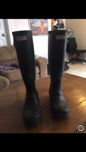 Black hunter boots for sale- hardly used!!