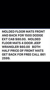 FLOOR MATS 1500 ram and jeep Regina Regina Area image 1