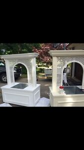White Wedding Trellis Boxes Kitchener / Waterloo Kitchener Area image 1