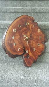 Vintage Tree Slab Wood Slice Wall Clock Beautiful Grain Rustic r