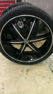 Awesome barely used 26 inch rims and tires for Hummer H3s