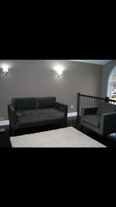 Contemporary couch with matching arm chair Kitchener / Waterloo Kitchener Area image 1