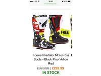 Forma predator motocross boots used