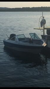 17ft Edson with 99hp Evinrude and trailer