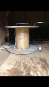 Large wooden spool