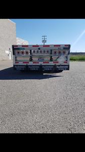 Remorque flatbed 4 essieux